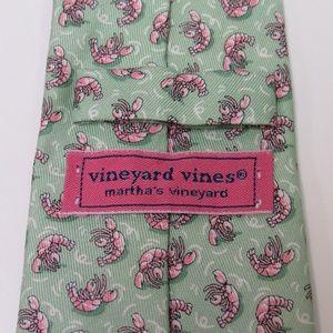 Vineyard Vines Boys Lobster Print Silk Tie